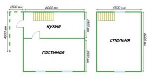 план дома 7х6